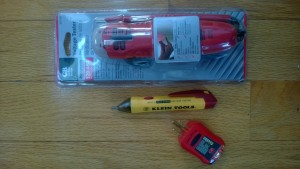 klein tools voltage tester plus 2 other types of electrical current testers