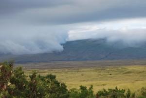 big island hawaii clouds over mountains