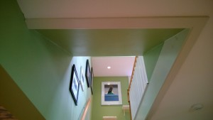 painting the stairwell ceiling
