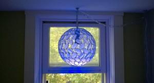 kaia pendant light in upstairs hall window