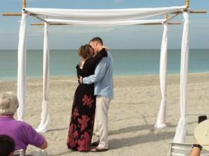 beach wedding vow renewal jim me