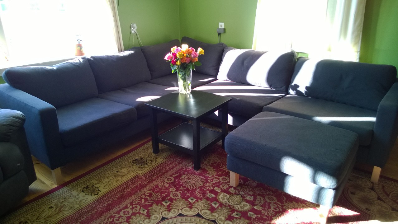 On Basement Shelves & Ditching the Couch