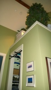 using the top of the master closet for storage