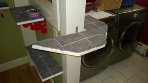 painting the laundry room cat platform
