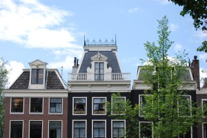 fancy rooftop and windows in amsterdam
