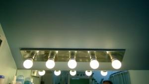 old vanity light in the master bathroom