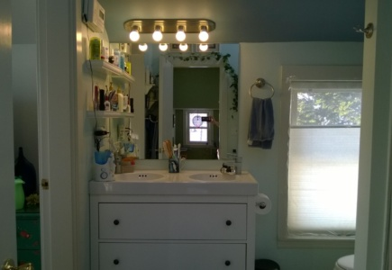 Replacing the Master Bath Light Bar