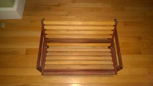 miniature futon frame from martha made of bubinga wood from africa