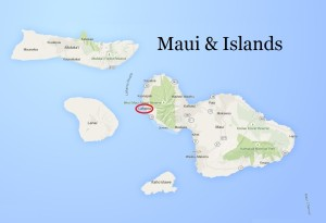 map of maui hawaii and nearby islands
