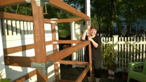 outdoor cat enclosure / catio frame assembled and me