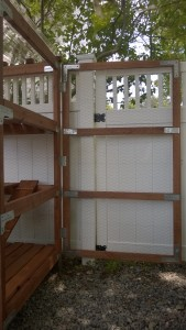 building the door for the outdoor cat enclosure / catio