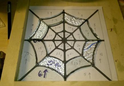 Stained Glass Spider Web – Part 1