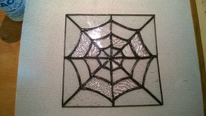 diy stained glass spider web