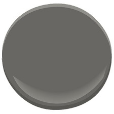 benjamin moore kendall charcoal - 2nd color i painted the downstairs front hall