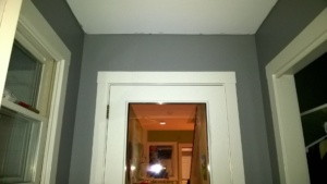 painting the front hall a hybrid mix of kendall charcoal and white