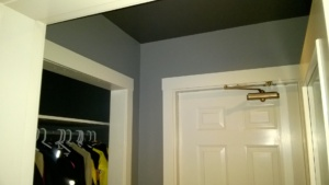 painting the ceiling in the front hall kendall charcoal