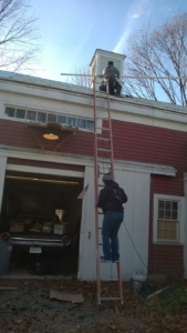 climbing the ladder to hand briggs wooden batton boards