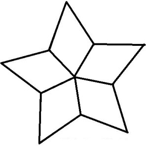 stained glass star template design