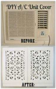 vintagemeetsglam diy'd ac cabinets using michaels laser cut wooden panels
