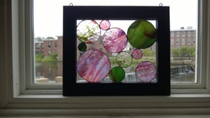 my second stained glass frame project completed