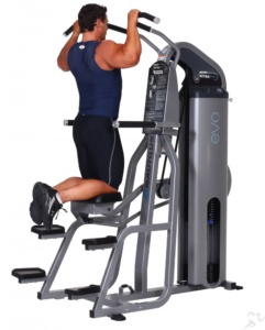 weight assisted pull up and dip machine