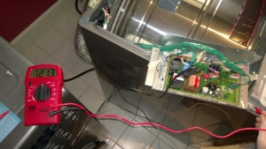 testing the voltage of our samsung dv350aep/xaa dryer after it stopped getting hot