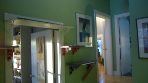i re-hung the whale print in the upstairs hall