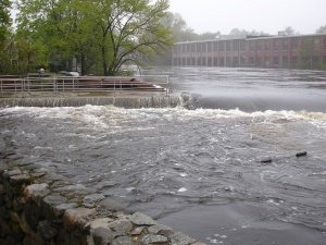 ipswich river & fish ladder during the flood of 2006, taken by waterpixi