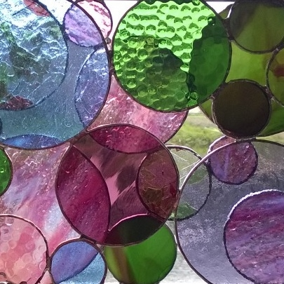 stained glass circles project
