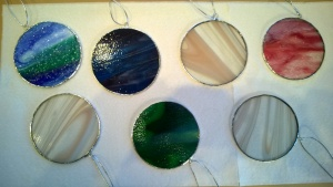 i created stained glass circles for gifts for christmas 2016