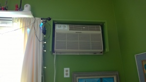 i rebuilt the living room ac box so it fit side to side but was too short up and down