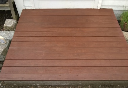 Front Stoop:  Re-Stained