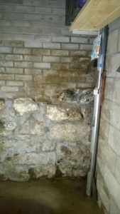our basement wall that floods