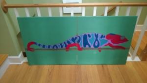 i added raspberry to the chameleon mural