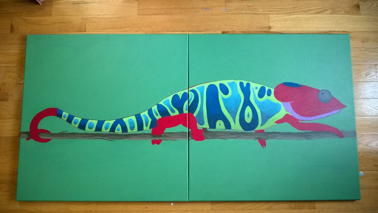 Chameleon Mural – Part 4