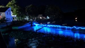 ipswich illuminated 2017 - led color changing waterfall lights