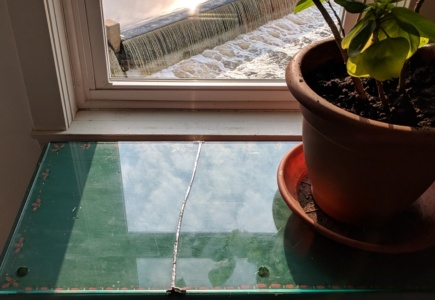 Repairing a Piece of Plate Glass