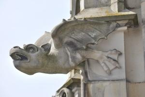 gargoyle on the side of the münster, ulm, germany