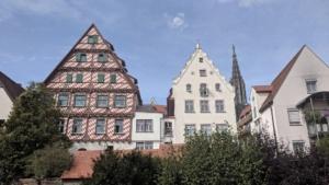 colorful buildings in ulm, germany