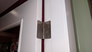 i replaced the brass hinges in our house with silver