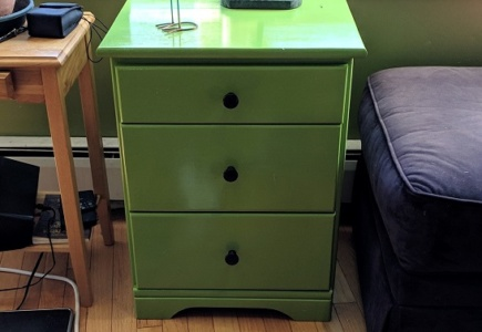 Furlough Project #1 – Lime Green Cupboard