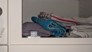 the magnetic catch ensures the cabinet door stays closed