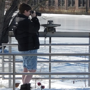 me taking photos of ducks in the ipswich river