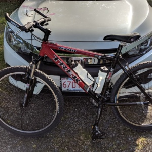 my trek 6700 red and black hard-tailed mountain bike