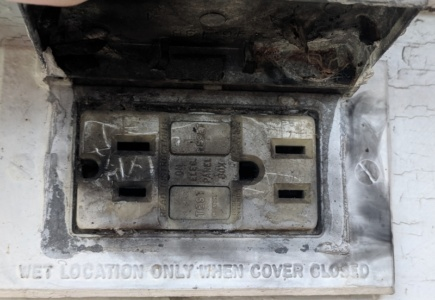 Hubby's Outdoor Outlet Scare
