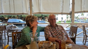pop & susie listening to live music at the pioneer inn, lahaina, maui