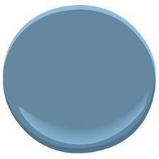 benjamin moore blue nose - bedroom accent wall