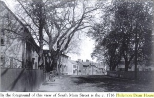 south main street and the philemon dean house ipswich ma 1910