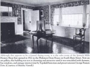 philemon dean house front room as the ipswich hosiery shop showroom 1922