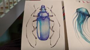 blue bug chromatek tutorial on youtube - watercolor pens